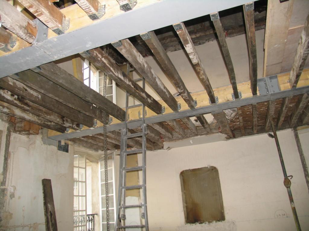 Immeuble parisien for Refaire un plancher bois