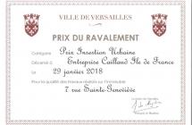 Prix de la Mairie de Versailles récompensant l'insertion urbaine (2018)